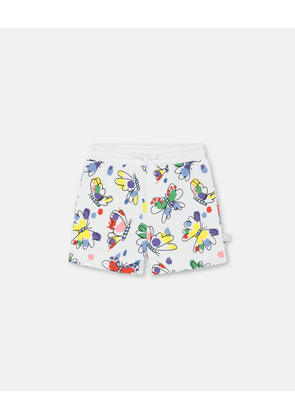 Stella McCartney Kids Multicolour Baby Butterfly Cotton Shorts, Unisex, Size 1-3