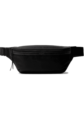 SAINT LAURENT - Leather-Trimmed Nylon Belt Bag - Men - Black