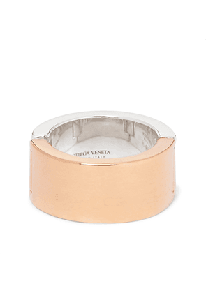 BOTTEGA VENETA - Sterling Silver and Gold-Plated Ring - Men - Silver - 9