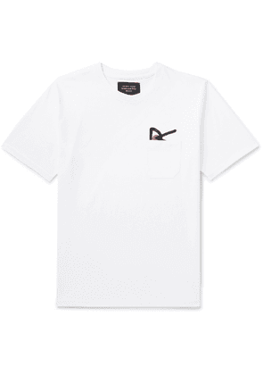 DISTRICT VISION - Intoku Logo-Embroidered Cotton-Jersey T-Shirt - Men - White