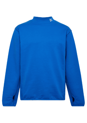 DISTRICT VISION - Hiei Logo-Embroidered Loopback Cotton-Jersey Sweatshirt - Men - Blue