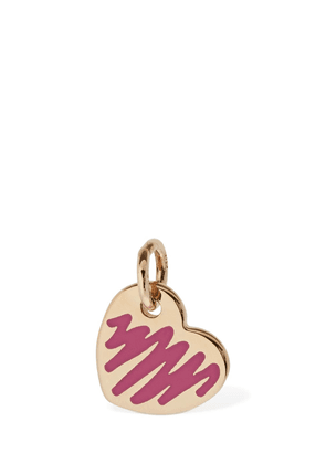 9kt Rose Gold Enameled Cuore Charm