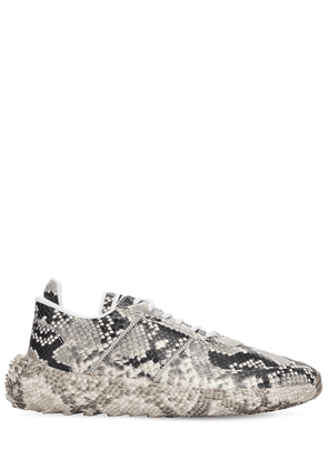 Urchin Snake Print Leather Low Sneakers