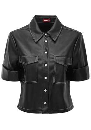 Rue Faux Leather Shirt