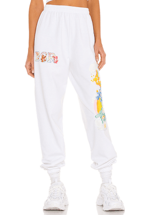 By Samii Ryan Over The Rainbow Sweats in White. Size M, S.