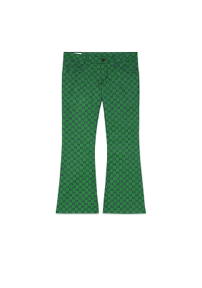 GG canvas flare trousers