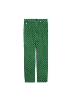 GG canvas trousers