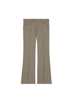 G jacquard wool flare trousers