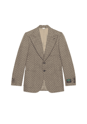 G jacquard wool jacket with Gucci label