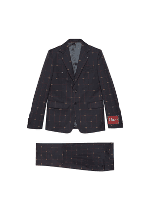 GG wool suit
