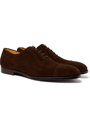George Cleverley - Adam Cap-Toe Burnished-Leather Oxford Brogues - Men - Brown