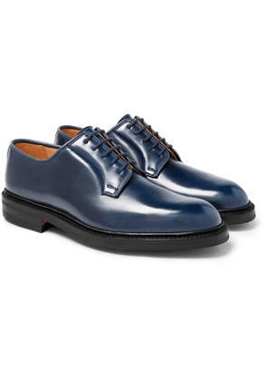 George Cleverley - Archie Horween Shell Cordovan Leather Derby Shoes - Men - Blue