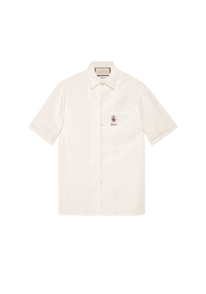 Embroidered Oxford bowling shirt