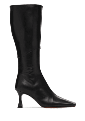 80mm Xx Duck Leather Tall Boots