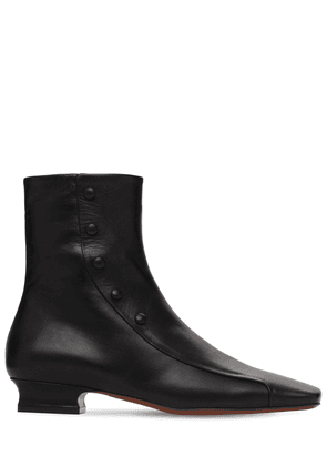 30mm Duck Leather Ankle Boots