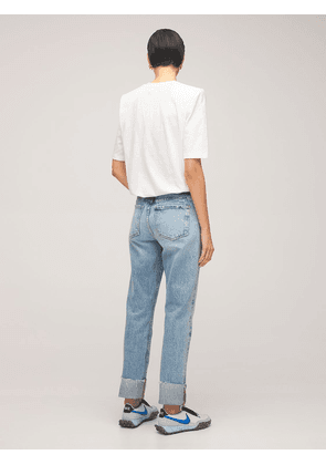 Le Piper Wide Cuffs Straight Jeans