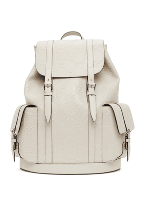 Gucci Off-White GG Embossed Backpack