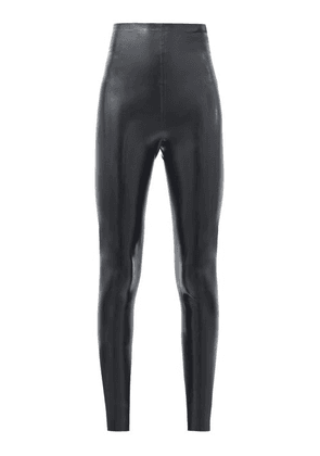Saint Laurent - High-rise Latex Leggings - Womens - Black