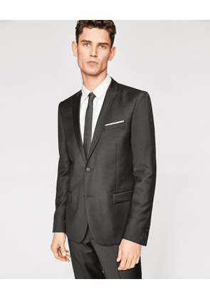 The Kooples - Fitted black wool jacket with pocket square - MEN