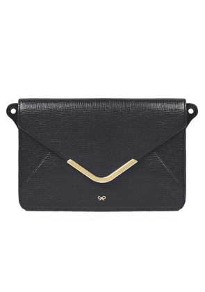 Anya Hindmarch Postbox Textured-leather Wallet Woman Black Size --