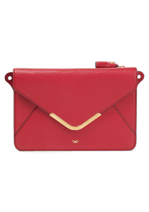 Anya Hindmarch Postbox Textured-leather Wallet Woman Red Size --