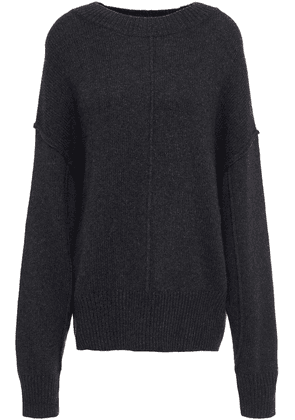 Autumn Cashmere Mélange Knitted Sweater Woman Charcoal Size M