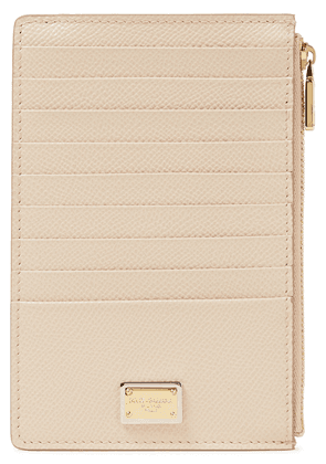 Dolce & Gabbana Textured-leather Cardholder Woman Neutral Size --