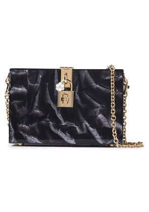 Dolce & Gabbana Printed Acrylic Box Clutch Woman Black Size --