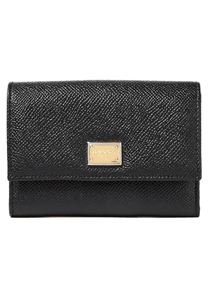 Dolce & Gabbana Textured-leather Wallet Woman Black Size --
