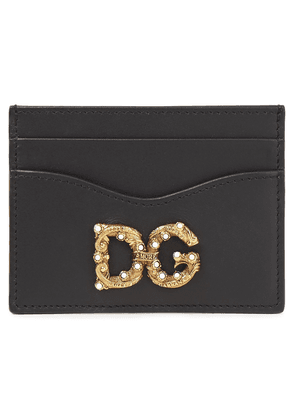 Dolce & Gabbana Dg Amore Leather Cardholder Woman Black Size --