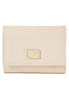Dolce & Gabbana Textured-leather Wallet Woman Neutral Size --