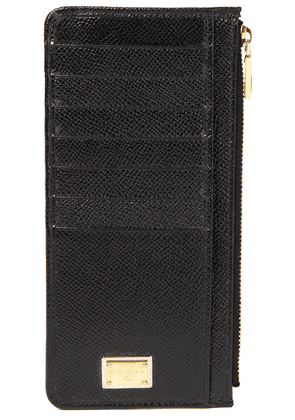 Dolce & Gabbana Textured-leather Cardholder Woman Black Size --