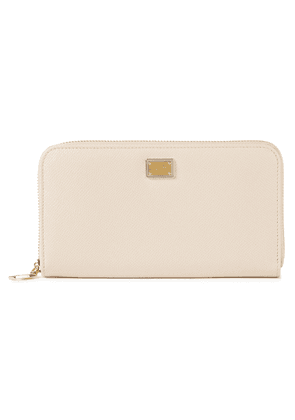 Dolce & Gabbana Textured-leather Continental Wallet Woman Neutral Size --