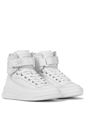 Leather high-top sneakers