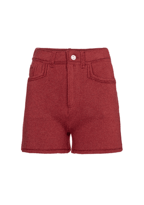 Cashmere and cotton shorts