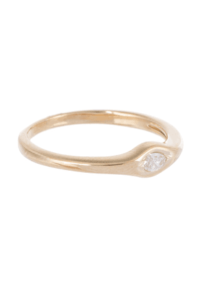 Single Marquise 14kt gold and diamond ring
