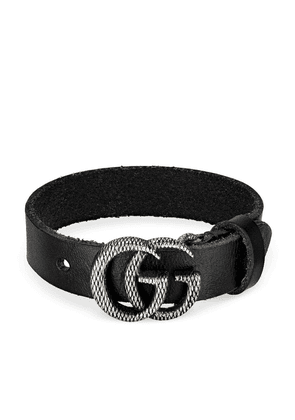 Gucci engraved Double G bracelet - Black
