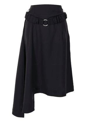 Eudon Choi belted asymmetric skirt - Blue