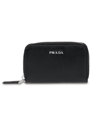 Prada Saffiano Leather Padlock Holder - Black