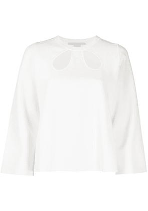 Stella McCartney cut-out cropped top - White