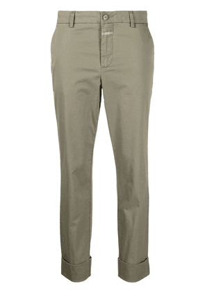 Closed cropped chino trousers - Neutrals