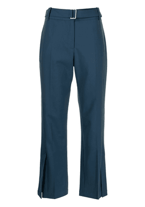 Eudon Choi belted-waist cropped trousers - Blue