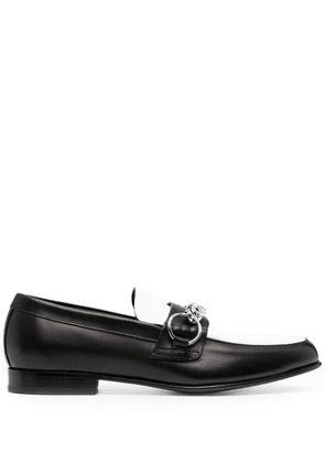 Burberry chain-detail leather loafers - Black