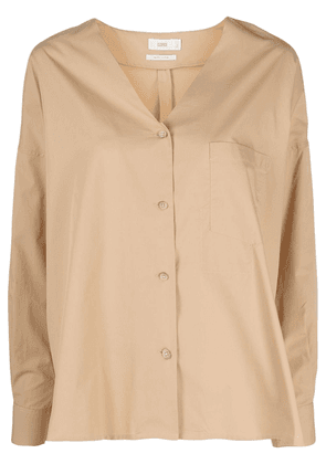Closed V-neck blouse - Neutrals