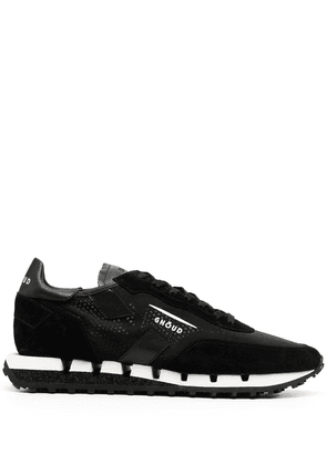 Ghoud two-tone ridged sole sneakers - Black