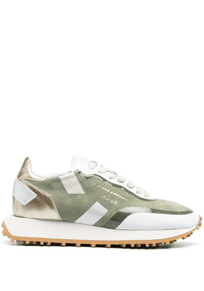 Ghoud metallic-patterned trainers - Green