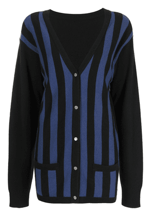 Cynthia Rowley Maya striped cardigan - Black