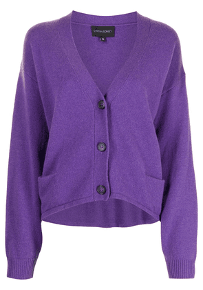 Cynthia Rowley V-neck cardigan - PURPLE