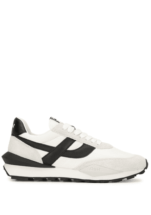 Ash panelled lace-up trainers - White