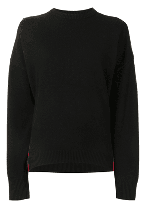 Cynthia Rowley two tone cashmere-blend jumper - Black